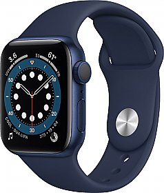 Apple Watch Series 6 GPS 40mm Blue Aluminum Case with Sport Band Deep Navy EU