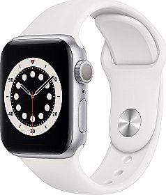 Apple Watch Series 6 GPS 40mm Silver Aluminum Case with Sport Band White EU