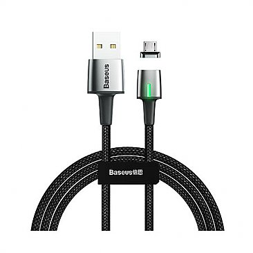 Baseus Braided Magnetic USB 2.0 to micro USB Cable Μαύρο 1m (CAMXC-A01)